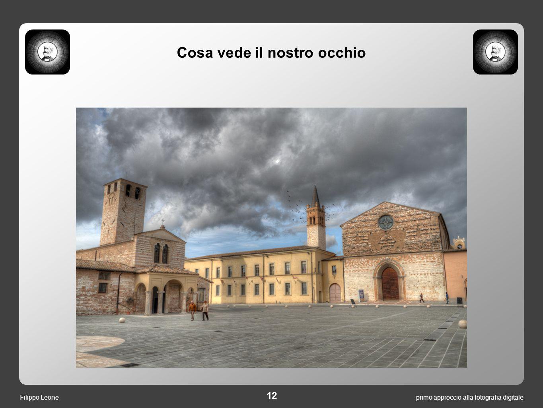 primo approccio alla fotografia digitale 12 Filippo Leone Cosa vede il nostro occhio