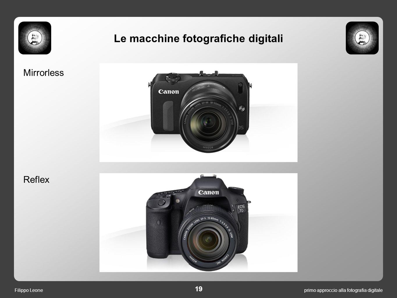 19 primo approccio alla fotografia digitaleFilippo Leone Mirrorless Reflex Le macchine fotografiche digitali