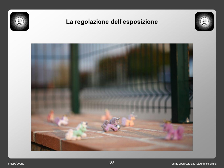 primo approccio alla fotografia digitale 22 Filippo Leone La regolazione dell'esposizione