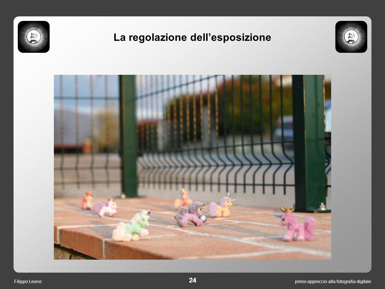 primo approccio alla fotografia digitale 24 Filippo Leone La regolazione dell'esposizione
