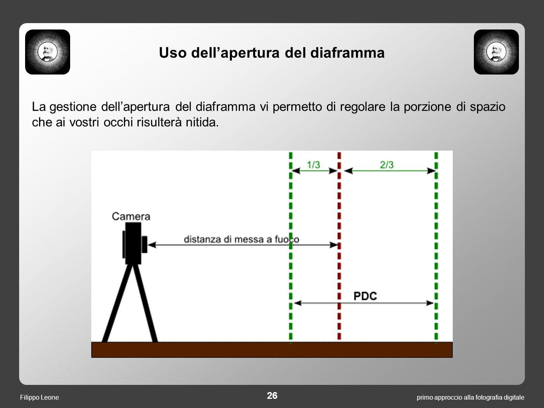 La gestione dell'apertura del diaframma vi permetto di regolare la porzione di spazio che ai vostri occhi risulterà nitida. primo approccio alla fotog