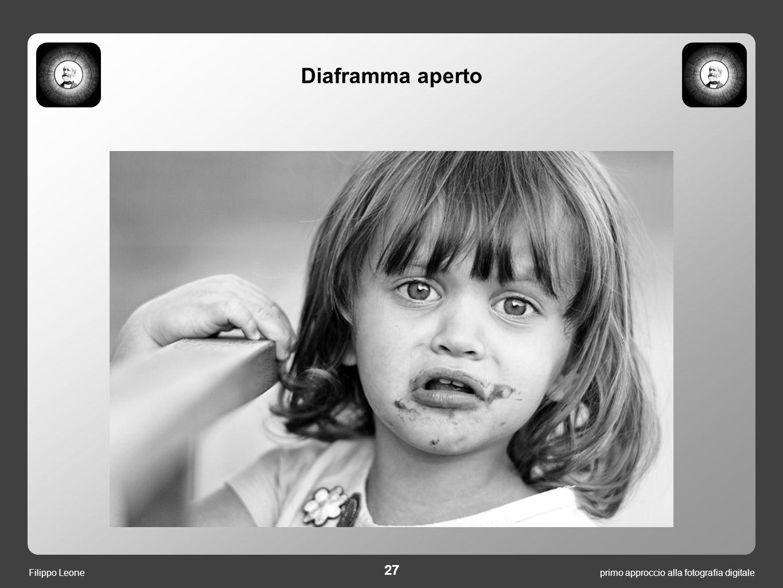 primo approccio alla fotografia digitale 27 Filippo Leone Diaframma aperto