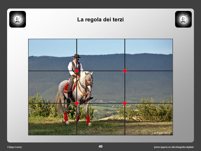 40 primo approccio alla fotografia digitaleFilippo Leone La regola dei terzi