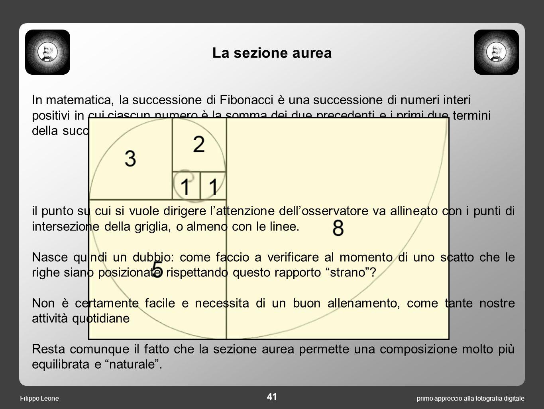 In matematica, la successione di Fibonacci è una successione di numeri interi positivi in cui ciascun numero è la somma dei due precedenti e i primi d