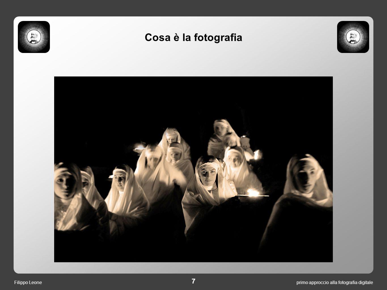 primo approccio alla fotografia digitale 8 Filippo Leone L'occhio umano è un dispositivo soggettivo.