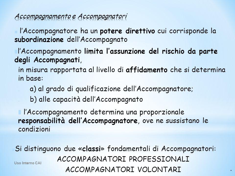 * ■ l'Accompagnatore ha un potere direttivo cui corrisponde la subordinazione dell'Accompagnato ■ ■ Si distinguono due «classi» fondamentali di Accomp
