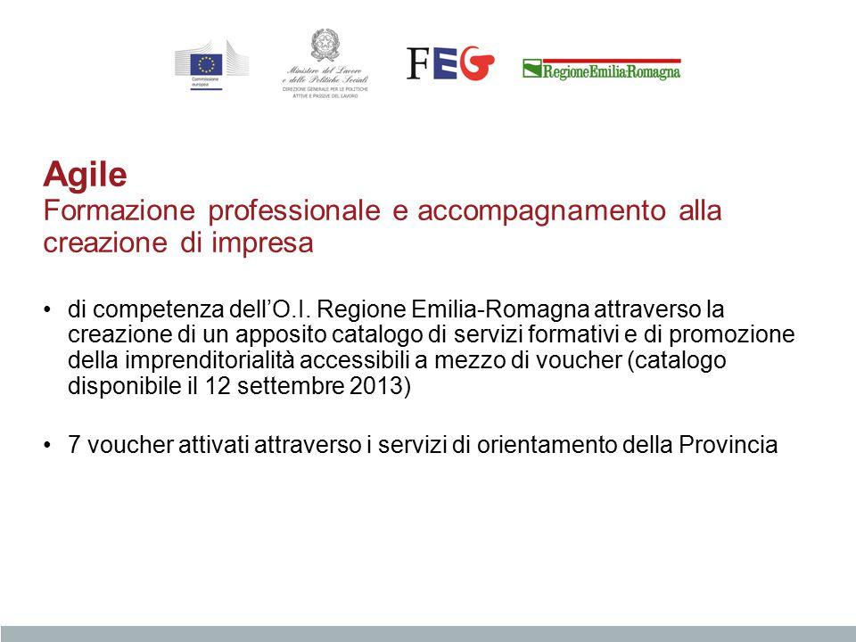 Agile Formazione professionale e accompagnamento alla creazione di impresa di competenza dell'O.I. Regione Emilia-Romagna attraverso la creazione di u