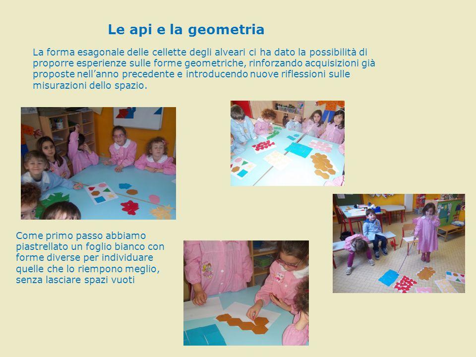 I bambini hanno individuato tre forme ideali tra quelle proposte: il triangolo,il quadrato e l'esagono.