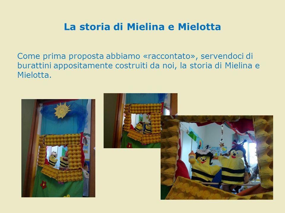 Ecco i nostri personaggi: L'ape nutrice, Mielina, l'ape guardiana, l'ape Regina e Mielotta