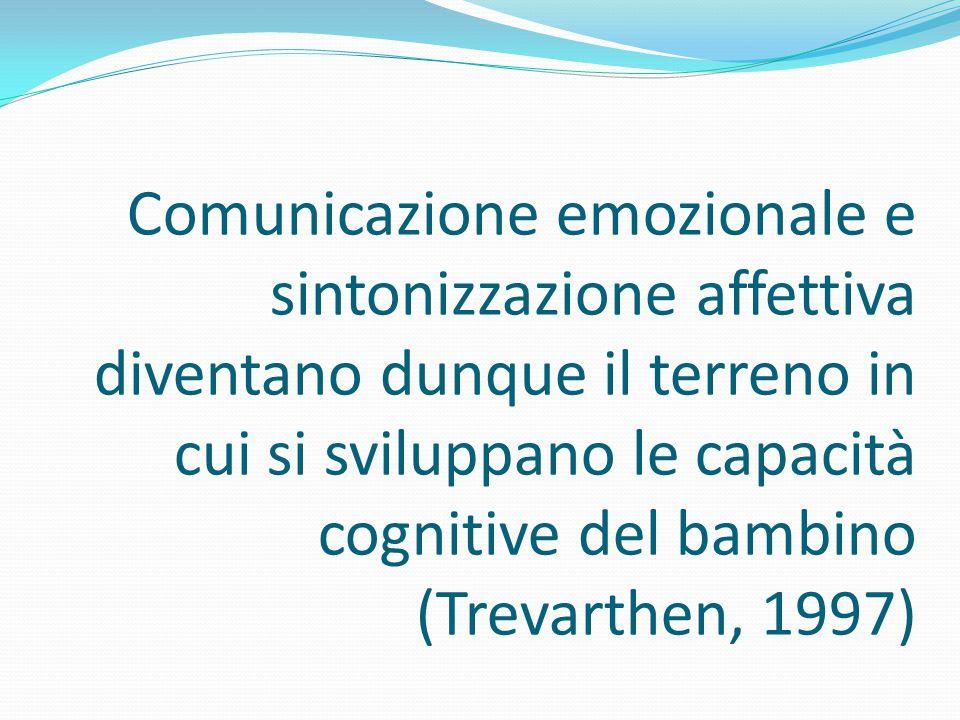 Comunicazione emozionale e sintonizzazione affettiva diventano dunque il terreno in cui si sviluppano le capacità cognitive del bambino (Trevarthen, 1