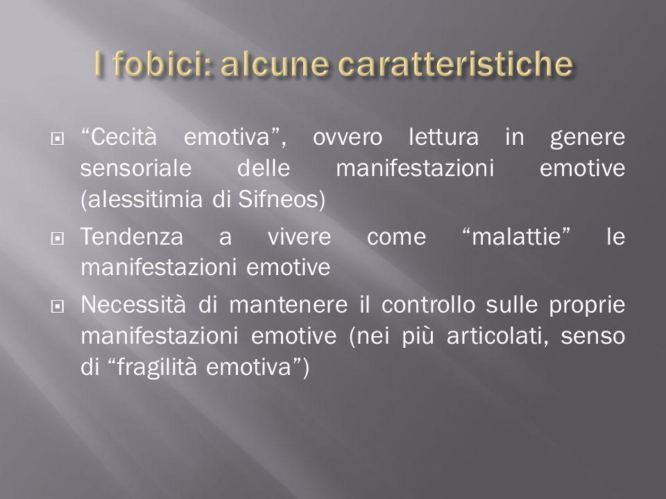 """ """"Cecità emotiva"""", ovvero lettura in genere sensoriale delle manifestazioni emotive (alessitimia di Sifneos)  Tendenza a vivere come """"malattie"""" le m"""