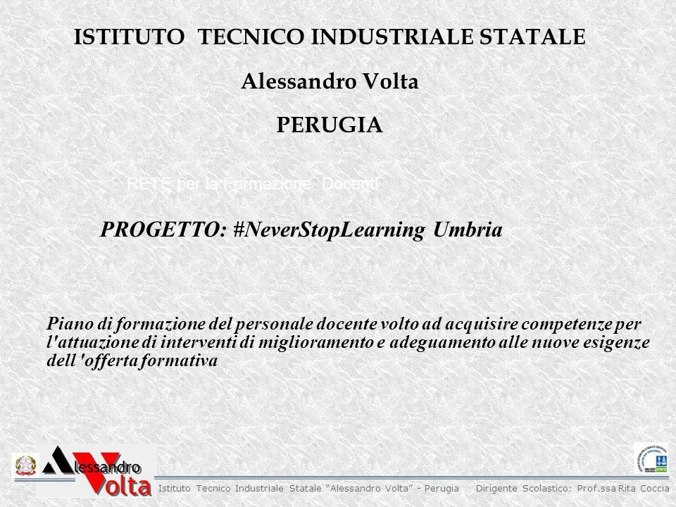Dirigente Scolastico: Prof.ssa Rita Coccia Istituto Tecnico Industriale Statale Alessandro Volta - Perugia 1.