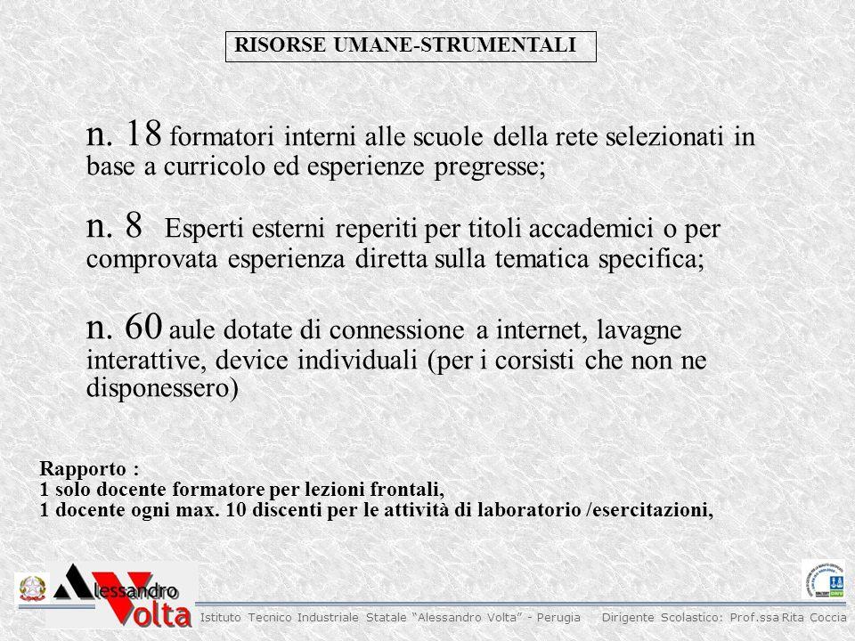 Dirigente Scolastico: Prof.ssa Rita Coccia Istituto Tecnico Industriale Statale Alessandro Volta - Perugia N.