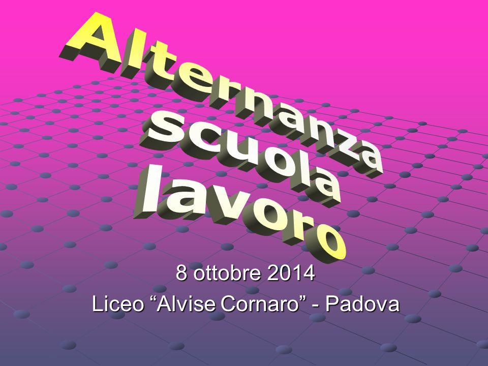 """8 ottobre 2014 Liceo """"Alvise Cornaro"""" - Padova"""