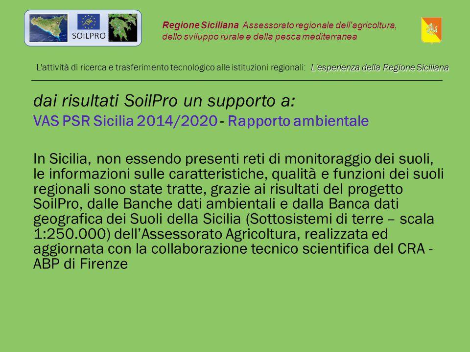 L'esperienza della Regione Siciliana L'attività di ricerca e trasferimento tecnologico alle istituzioni regionali: L'esperienza della Regione Sicilian