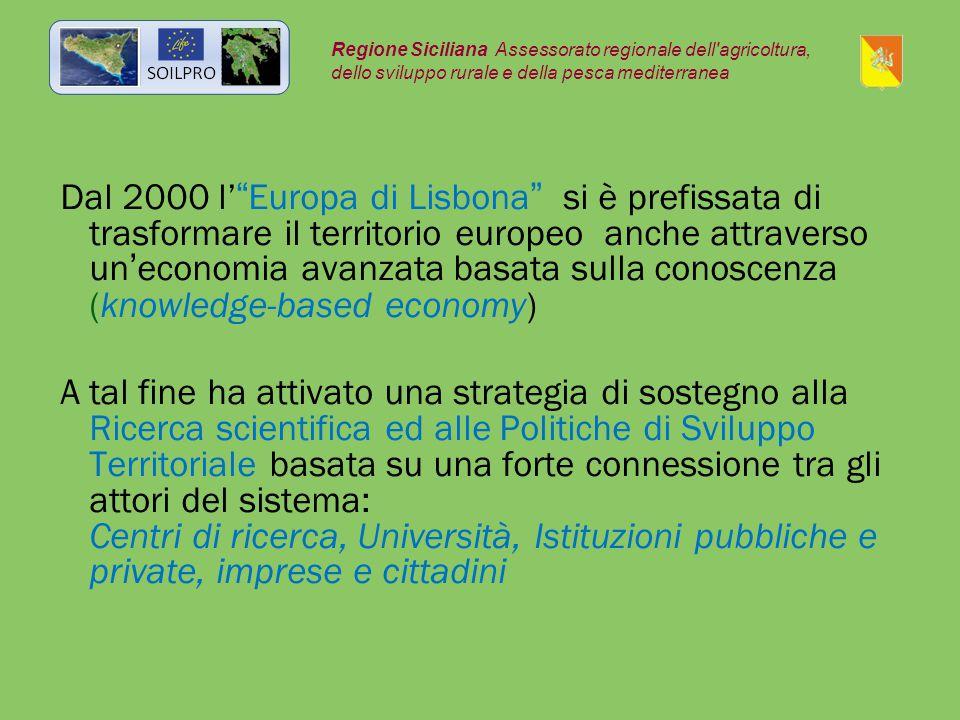 """Dal 2000 l'""""Europa di Lisbona"""" si è prefissata di trasformare il territorio europeo anche attraverso un'economia avanzata basata sulla conoscenza (kno"""