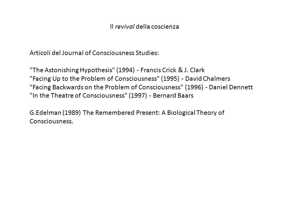 Articoli del Journal of Consciousness Studies: