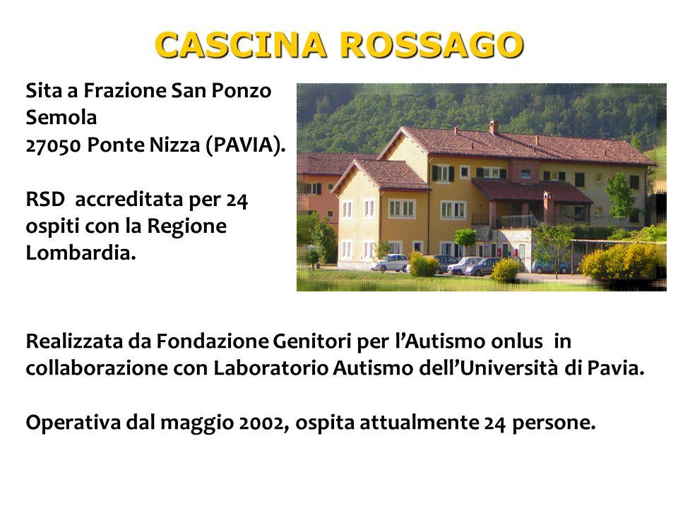 CASCINA ROSSAGO Sita a Frazione San Ponzo Semola 27050 Ponte Nizza (PAVIA). RSD accreditata per 24 ospiti con la Regione Lombardia. Realizzata da Fond