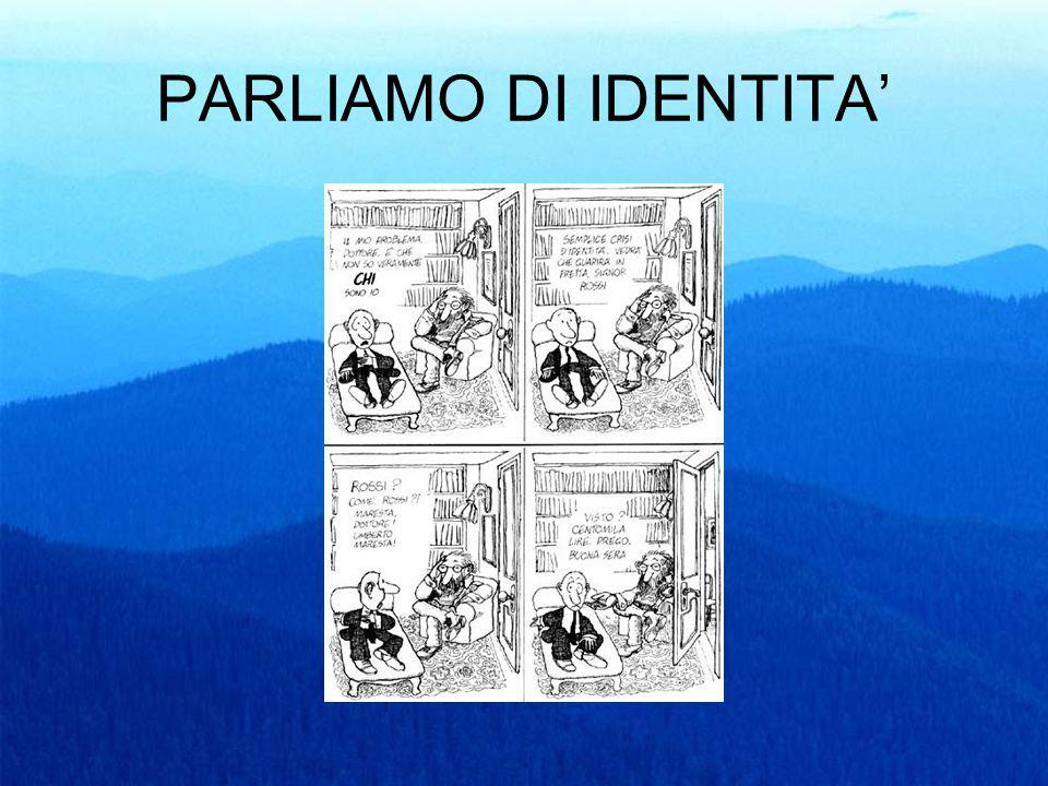 L'IDENTITA' RAPPRESENTA CIO' CHE SIAMO IDENTITA': PERSONALE DI GENERE SOCIALE LAVORATIVA/PROFESSIONALE