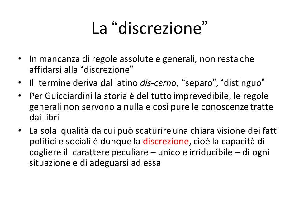 """La """" discrezione """" In mancanza di regole assolute e generali, non resta che affidarsi alla """" discrezione """" Il termine deriva dal latino dis-cerno, """" s"""