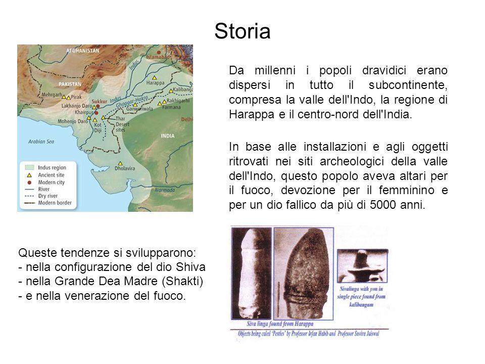 Storia Queste tendenze si svilupparono: - nella configurazione del dio Shiva - nella Grande Dea Madre (Shakti) - e nella venerazione del fuoco.