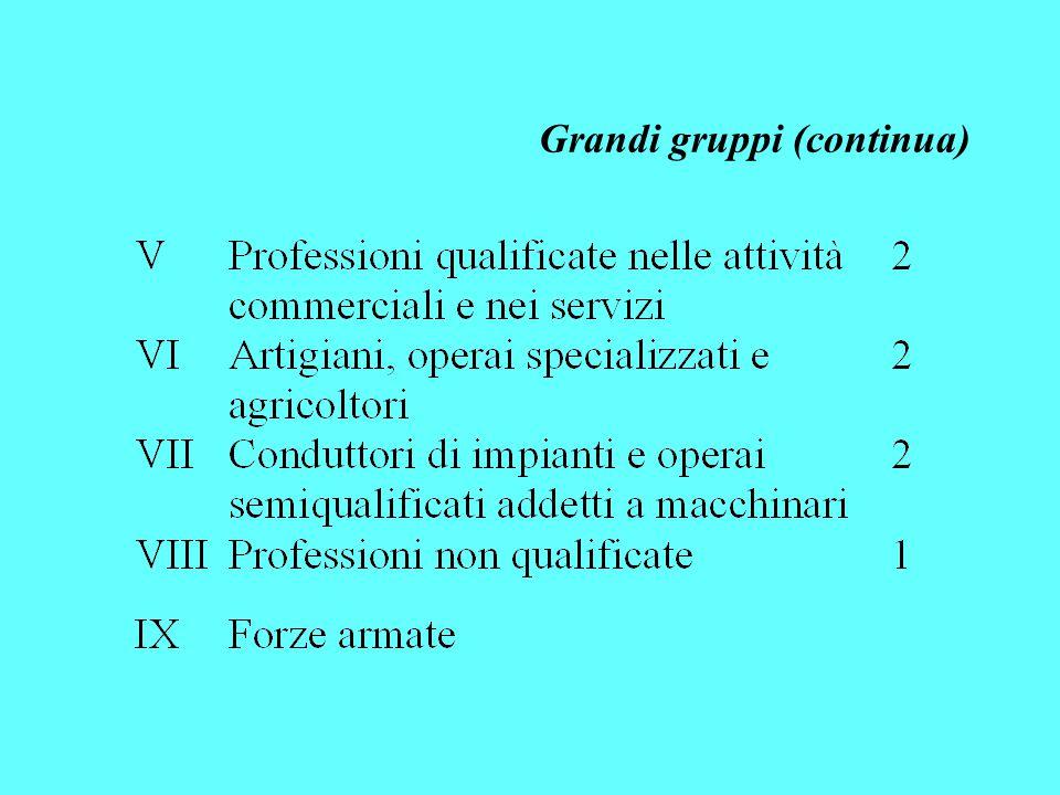 Grandi gruppi (continua)