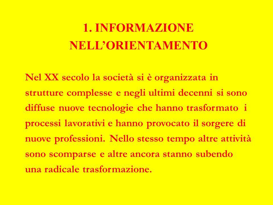 Informazione (continua) La stessa società è in continuo movimento.