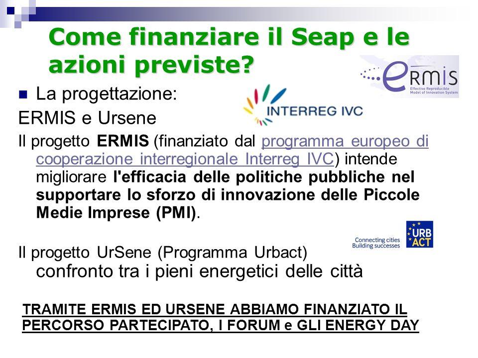 Come finanziare il Seap e le azioni previste.