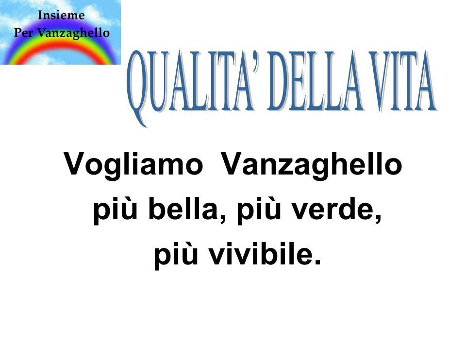 Vogliamo Vanzaghello più bella, più verde, più vivibile.