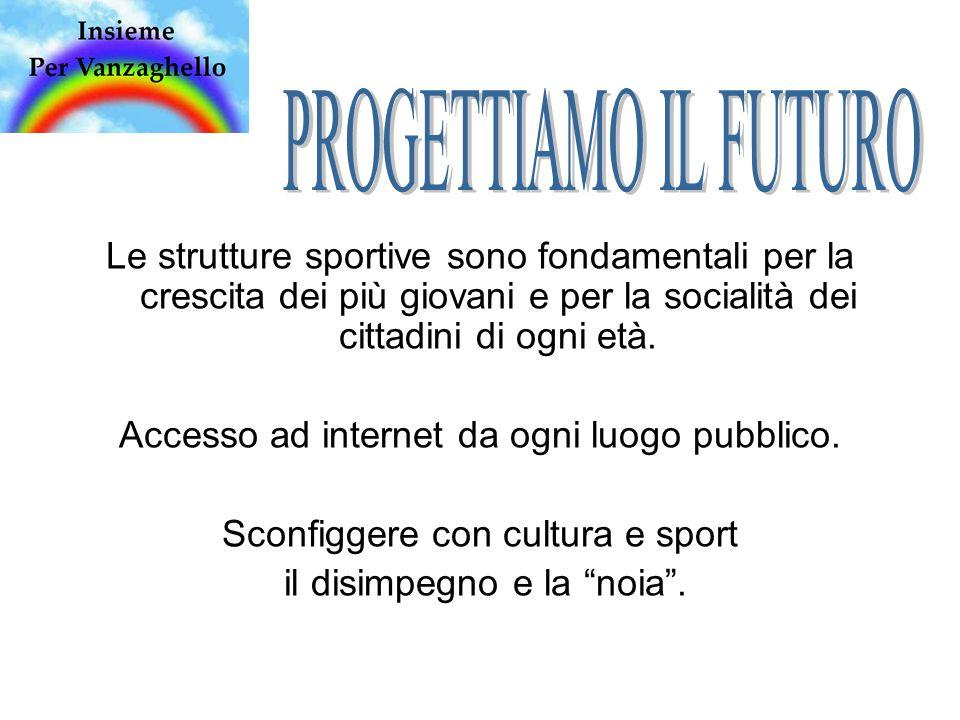 Le strutture sportive sono fondamentali per la crescita dei più giovani e per la socialità dei cittadini di ogni età.