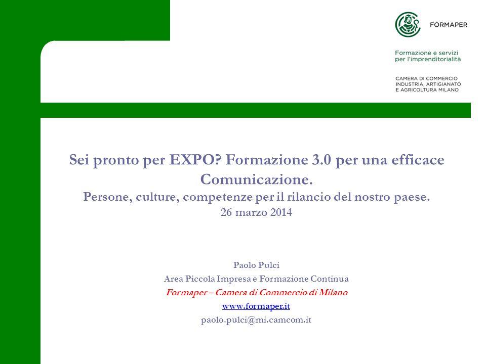 Sei pronto per EXPO. Formazione 3.0 per una efficace Comunicazione.