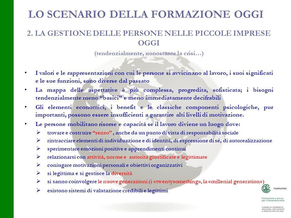 LO SCENARIO DELLA FORMAZIONE OGGI 2.