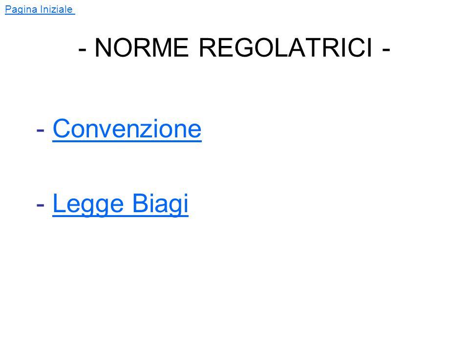 Pagina Iniziale - CONVENZIONE PER LO SVOLGIMENTO DEI TIROCINI ORIENTATIVI - (ART.