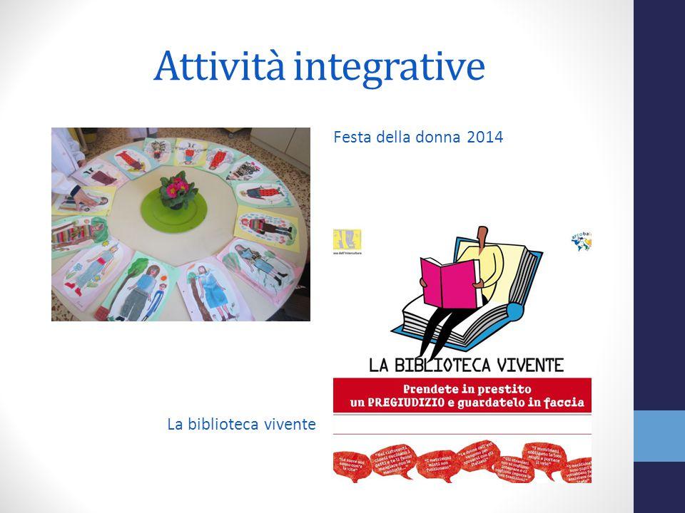Attività integrative Festa della donna 2014 La biblioteca vivente