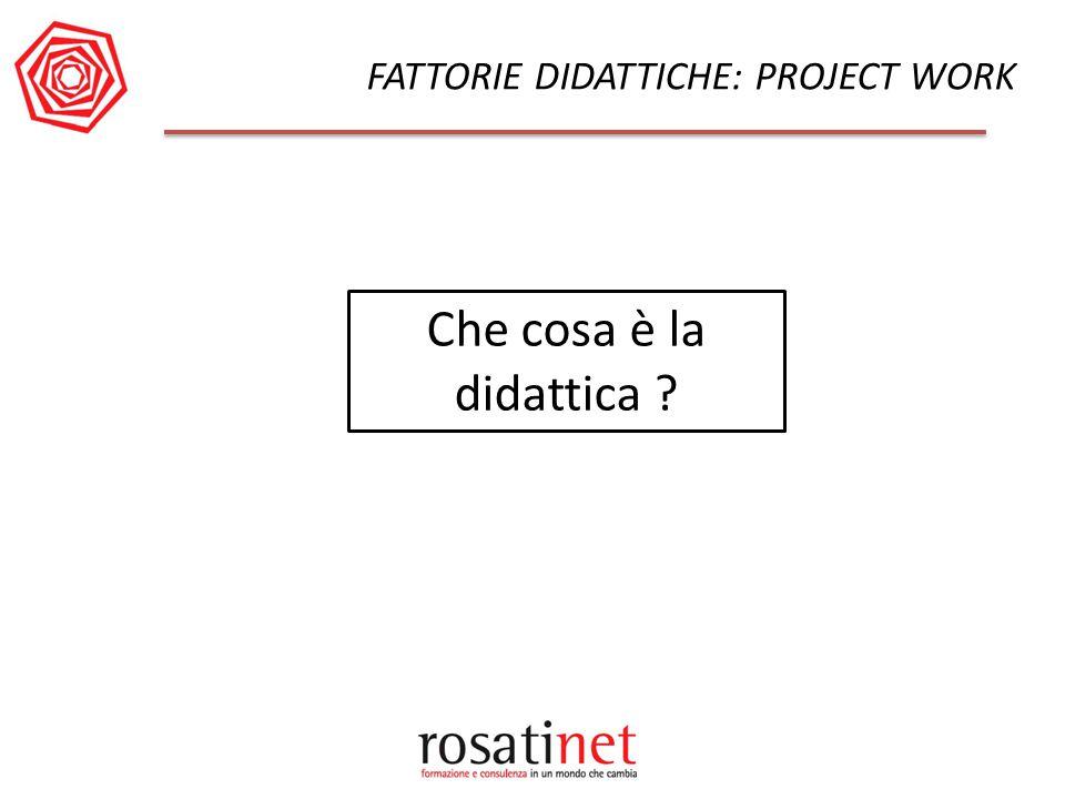 FATTORIE DIDATTICHE: PROJECT WORK Che cosa è la didattica ?