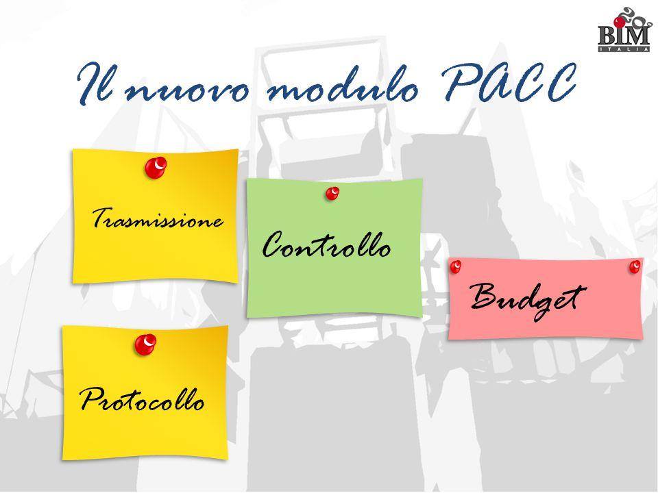 Il nuovo modulo PACC Controllo Budget