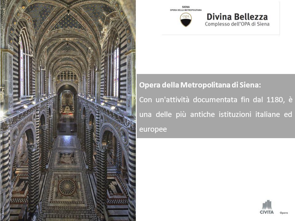Opera della Metropolitana di Siena: Con un'attività documentata fin dal 1180, è una delle più antiche istituzioni italiane ed europee