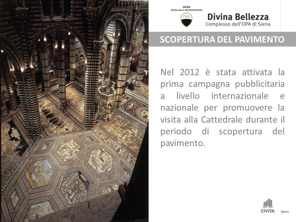 Nel 2012 è stata attivata la prima campagna pubblicitaria a livello internazionale e nazionale per promuovere la visita alla Cattedrale durante il periodo di scopertura del pavimento.