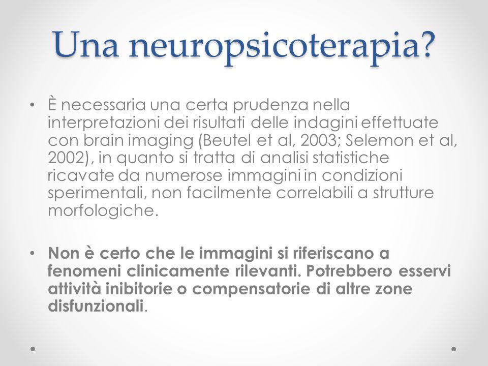 Una neuropsicoterapia? È necessaria una certa prudenza nella interpretazioni dei risultati delle indagini effettuate con brain imaging (Beutel et al,