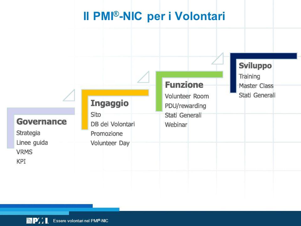 Il PMI ® -NIC per i Volontari Essere volontari nel PMI ® -NIC