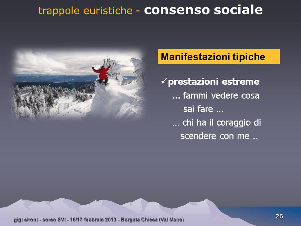 gigi sironi - corso SVI - 16/17 febbraio 2013 - Borgata Chiesa (Val Maira) 26 trappole euristiche - consenso sociale prestazioni estreme... fammi vede