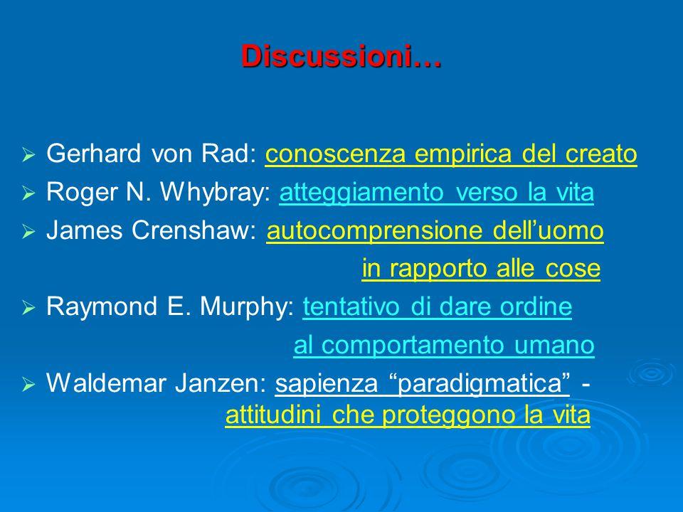 Discussioni…   Gerhard von Rad: conoscenza empirica del creato   Roger N.