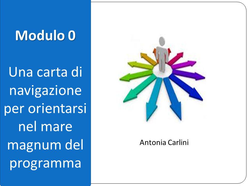 Modulo 0 Una carta di navigazione per orientarsi nel mare magnum del programma Antonia Carlini