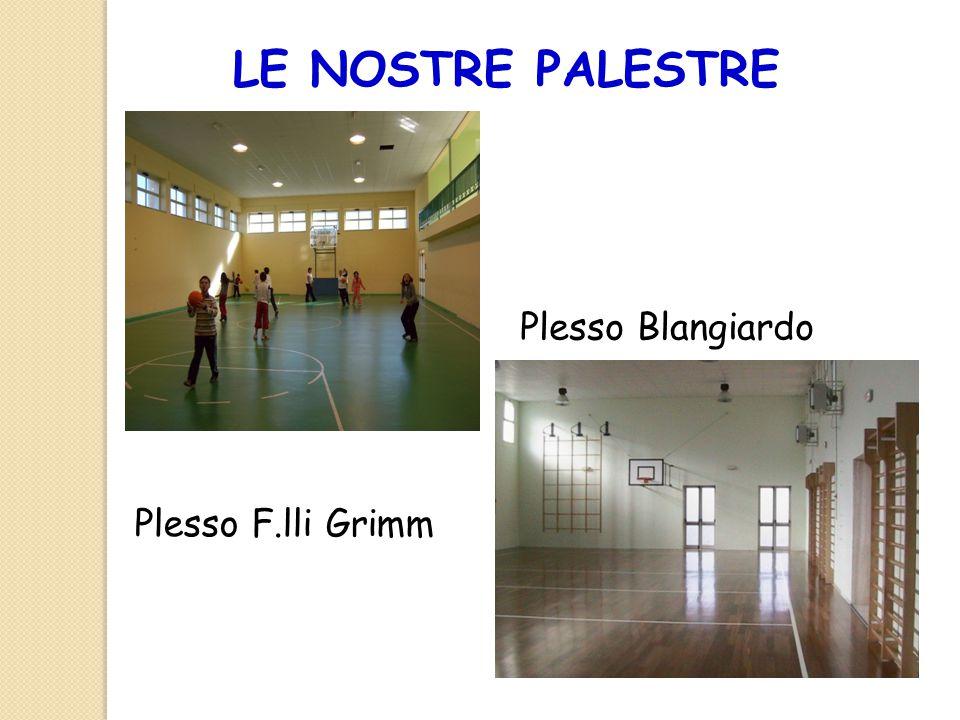 LE NOSTRE PALESTRE Plesso Blangiardo Plesso F.lli Grimm