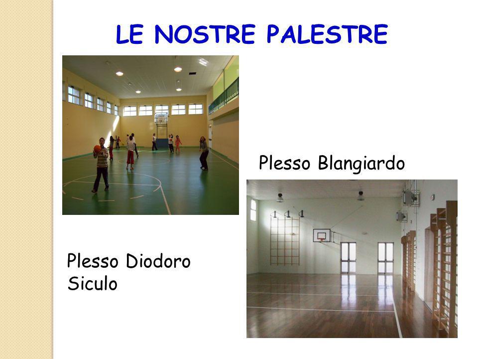 LE NOSTRE PALESTRE Plesso Blangiardo Plesso Diodoro Siculo