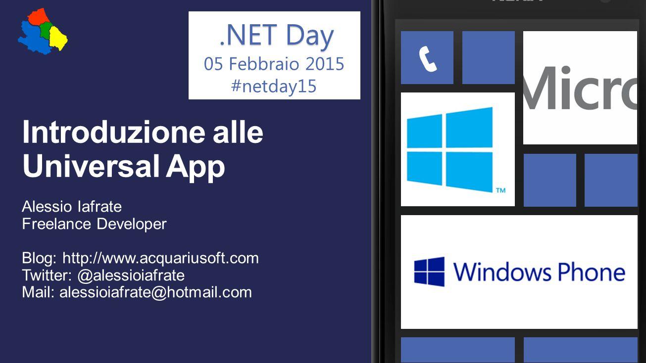 .NET Day 05 Febbraio 2015 #netday15 Windows 8.1