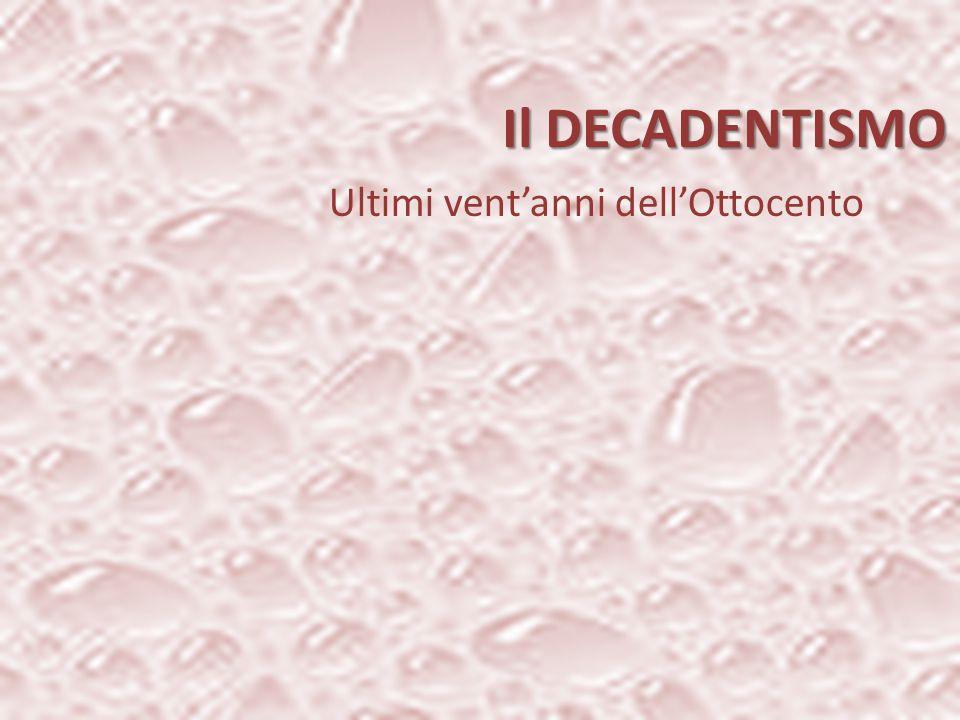 1857 Filone fantastico Dalla scissione «io/mondo» alla scoperta dell'inconscio Filone realistico ROMANTICISMO POSITIVISMODECADENTISMO SIMBOLISMOREALISMO Madame Bovary di Falubert LI fiori del male di Baudelaire