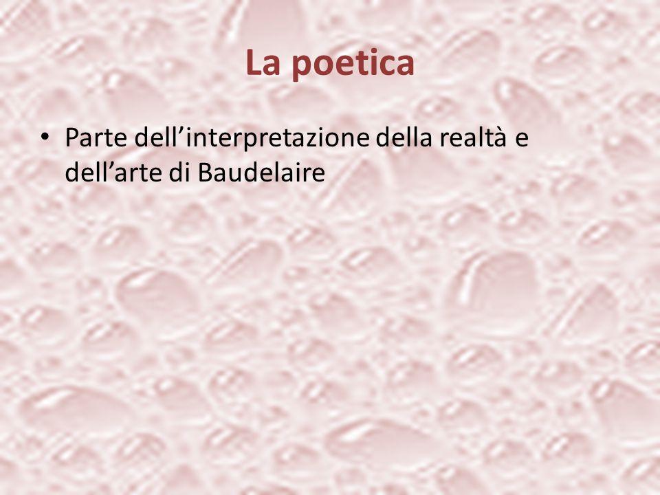 La poetica Parte dell'interpretazione della realtà e dell'arte di Baudelaire