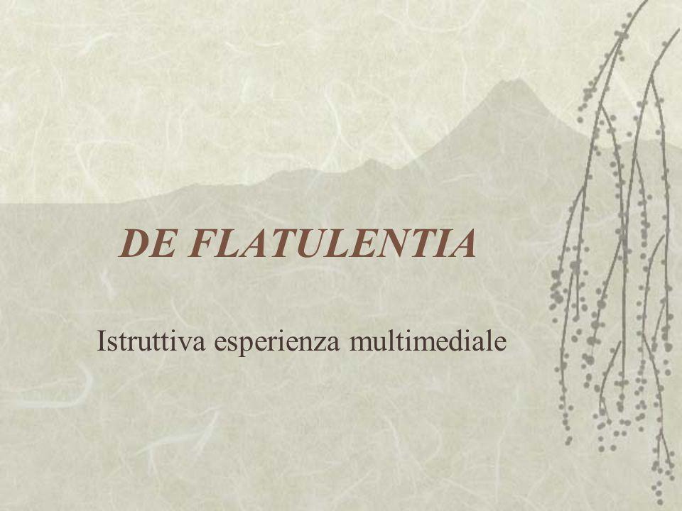 DE FLATULENTIA Istruttiva esperienza multimediale