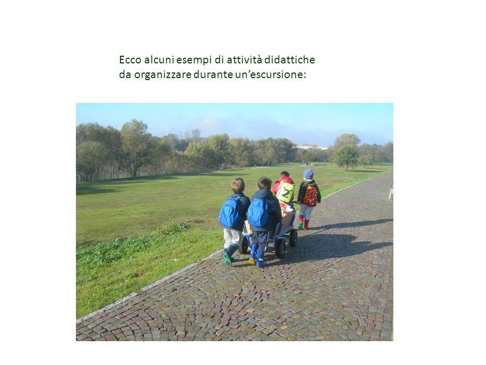 Ecco alcuni esempi di attività didattiche da organizzare durante un'escursione: